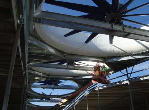 Cooling Tower Fan Installation